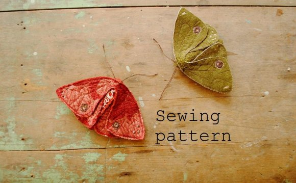 Sewing pattern / moth or