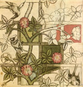 459px-William_Morris_design_for_Trellis_wallpaper_1862