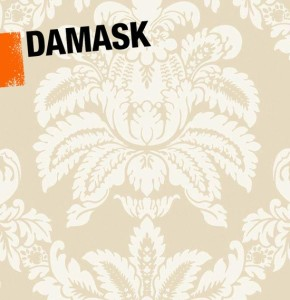 a visual illustrating damask habits in interior decor