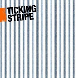 a graphic illustrating ticking stripes in interior decor