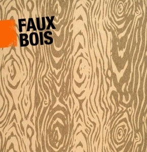 Graphic illustrating the faux bois design in interior decor