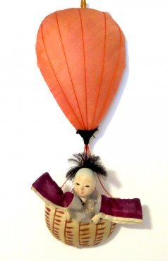 Japanese doll in balloon routine Japanese Textile IMG_8525