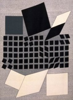 'Oeta', furnishing material, Victor Vasarely, 1962. Museum no. CIRC.694-1966