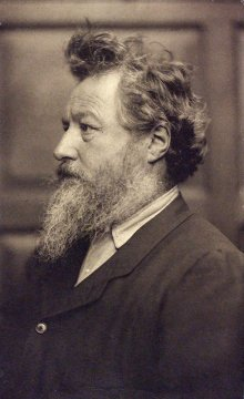 William Morris, photograph by Frederick Hollyer, 1884, platinum print. Museum no. 7717-1938, © Victoria and Albert Museum, London
